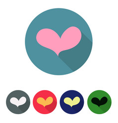 set of icons with heart vector image