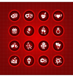 set valentines day icons signs vector image vector image