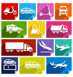 Transport flat icon bright color-05 vector image vector image