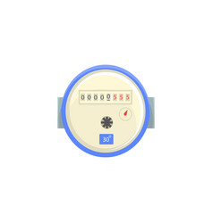 domestic water meter household measuring device vector image vector image