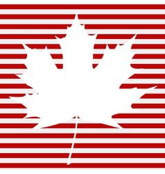 Maple Leaf on Stripes vector image vector image