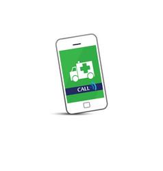 phone call ambulance car vector image