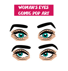 pop art cartoon comic sexy woman eyes vector image vector image