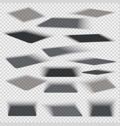 box square shadows with soft edge isolated on vector image vector image