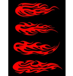 Burning tribal flames vector image