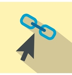 Chain link flat icon vector image