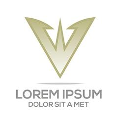 letter av symbol element logo template vector image