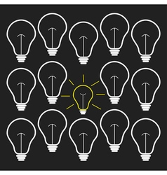 On and off bulb set Idea concept Flat design vector image vector image