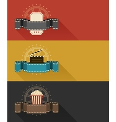 Retro movie theater posters vector image vector image