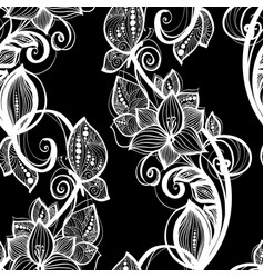 seamless pattern white lace background old vintage vector image vector image