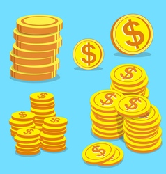 Set of money coins vector image vector image