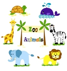 Cute Animals Collection Royalty Free Vector Image