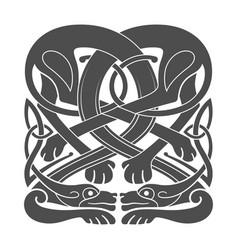 ancient celtic mythological symbol of hounds dogs vector image vector image