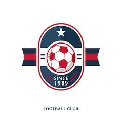 football Badge 8 vector image