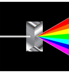 prism refraction vector image vector image