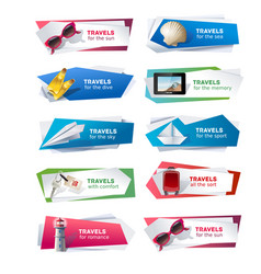 set banners on the theme of travel vector image