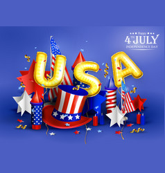4th july - independence day celebration vector