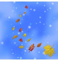 Abstract background with leaves on sky vector