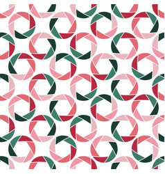 Abstract seamless pattern with aperture isolated vector