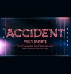 Accident banner medical background vector