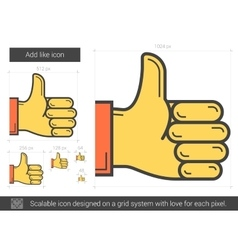 Add like line icon vector image