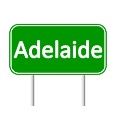 Adelaide road sign vector