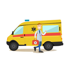 ambulance staff concept in vector image