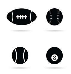 ball black silhouette vector image