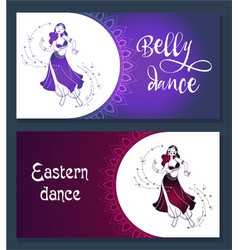 Banner belly dance vector