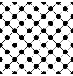 Black Polka dot Chess Board Grid White vector image