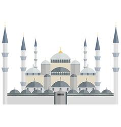 Blue mosque turkey istanbul vector