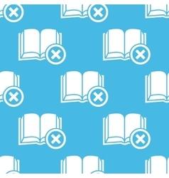 Blue remove book pattern vector