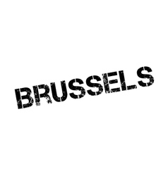 Brussels rubber stamp vector