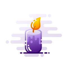 Candle linecolor vector