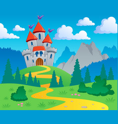 Castle theme landscape 1 vector