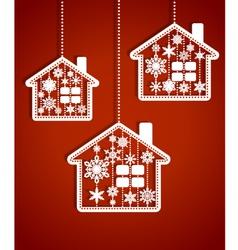 Christmas hauses vector