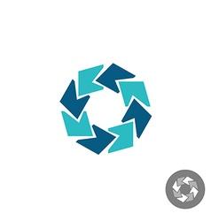 Circle financial logo vector image