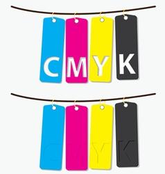 CMYK color vector