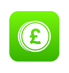coins of pound icon digital green vector image