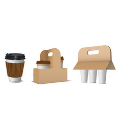 Collection craft paper cardboard holders vector