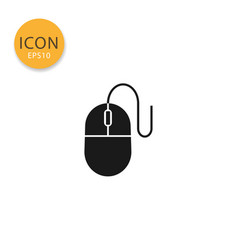 computer mouse icon isolated flat style vector image