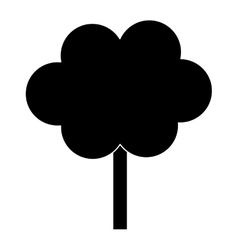 Contour tree in city scene icon image vector
