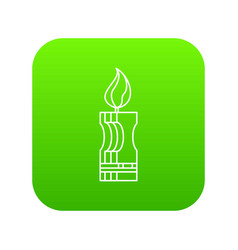 decorative candle icon green vector image