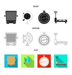 Design of goods and cargo sign set of vector