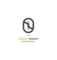Double egg logo design template vector