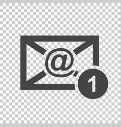 email envelope message in flat style on isolated vector image