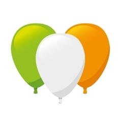 Flag irish ireland balloon vector