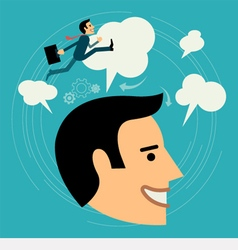 Flat style business man growth concept vector