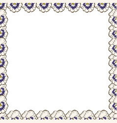 Frame of flowers beautiful frame of pansies ready vector