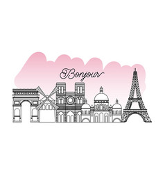 france paris card vector image